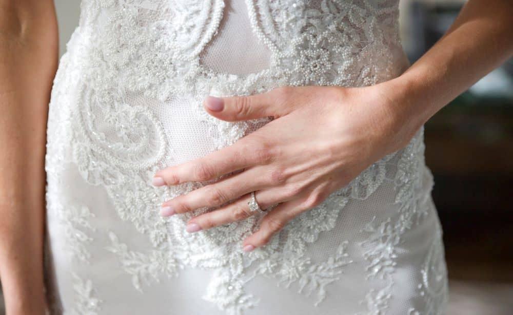 Wedding gown detail.
