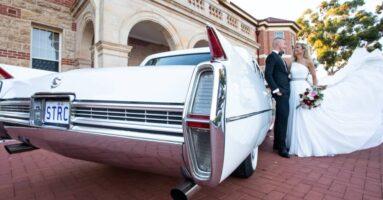 Couple, wedding car.